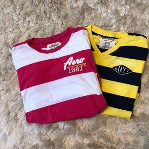 Other - Aeropostale striped men's shirts size XL, set of 2